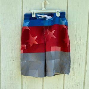 3/20$ Patriotic swim trunks
